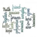 660225 - Sizzix Thinlits Die Set 16PK - Friendship Words: Script by Tim Holtz